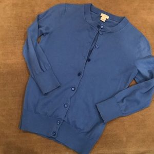 J.Crew The Clare Cardigan - 3/4 Sleeve in Blue